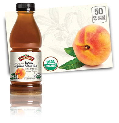Turkey Hill Peach Organic Black Tea Organic Iced Tea
