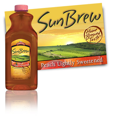 Turkey Hill SunBrew Lightly Sweetend Peach Tea SunBrew Iced Tea
