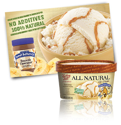 Turkey Hill Banana with Peanut Butter - Limited Batch All Natural Recipe