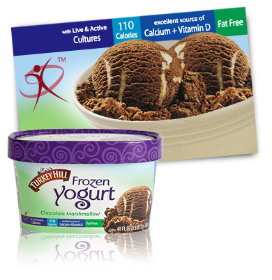 Turkey Hill Chocolate Marshmallow Frozen Yogurt