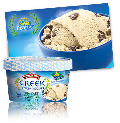 Turkey Hill Greek Frozen Yogurt Sea Salt Caramel Truffle - Limited Edition Frozen Yogurt