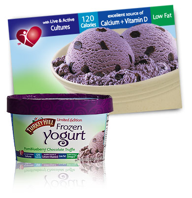 Turkey Hill PomBlueberry Chocolate Truffle - Limited Edition Frozen Yogurt