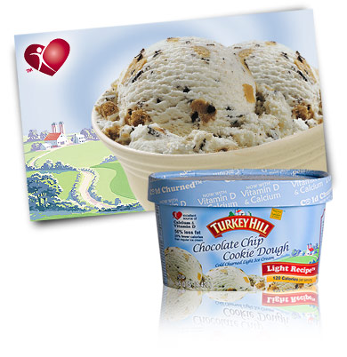 Turkey Hill Chocolate Chip Cookie Dough Light Ice Cream