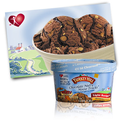 Turkey Hill Chocolate Nutty Moose Tracks® Light Ice Cream