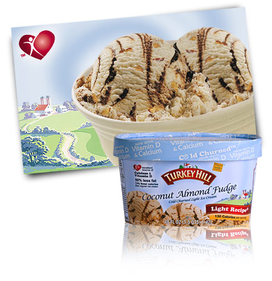 Turkey Hill Coconut Almond Fudge Light Ice Cream