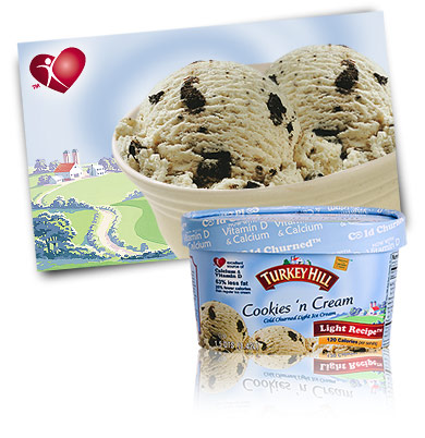 Turkey Hill Cookies 'n Cream Light Ice Cream