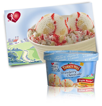 Turkey Hill Strawberry Cheesecake Light Ice Cream