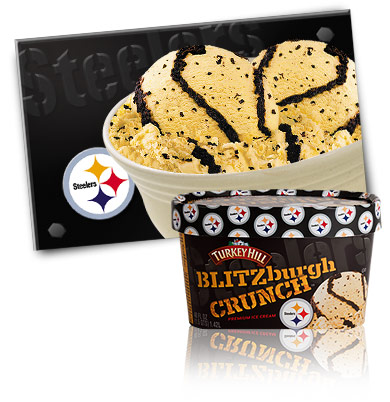 Pittsburgh Steelers Blitzburg Crunch Ice Cream