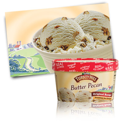 Turkey Hill Butter Pecan Premium Ice Cream