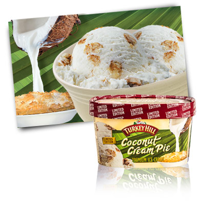 Turkey Hill Coconut Cream Pie - Limited Edition Premium Ice Cream