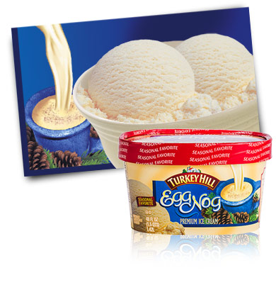 Turkey Hill Egg Nog - Seasonal Favorite Premium Ice Cream
