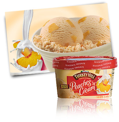 Turkey Hill Peaches 'N Cream - Seasonal Favorite Premium Ice Cream