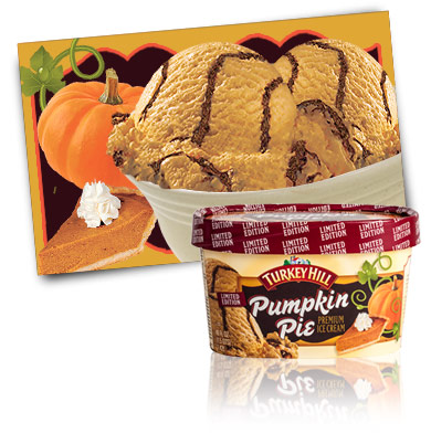 Turkey Hill Pumpkin Pie - Limited Edition Premium Ice Cream