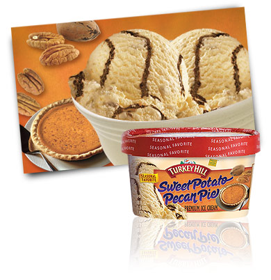 Turkey Hill Sweet Potato Pecan Pie - Seasonal Favorite Premium Ice Cream