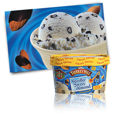Turkey Hill Vanilla Swiss Almond - Limited Edition Premium Ice Cream