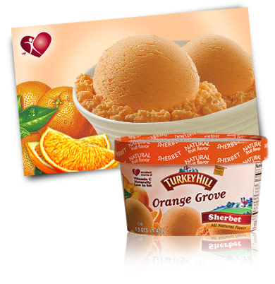 Turkey Hill Orange Grove Sherbet Sherbet