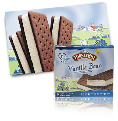 Turkey Hill Vanilla Bean Light Light Ice Cream Sandwiches