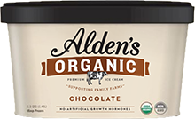 Alden's Organic Chocolate Ice Cream