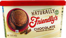 Naturally Friendly's Chocolate Ice Cream