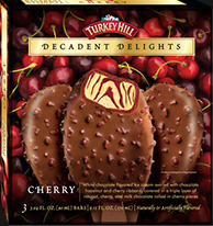 Decadent Delight Cherry Ice Cream Bars