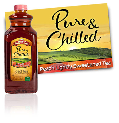 Turkey Hill Peach Lightly Sweetened Tea Pure & Chilled