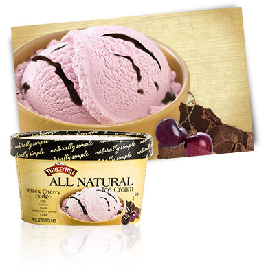 Turkey Hill Black Cherry Fudge All Natural Ice Cream