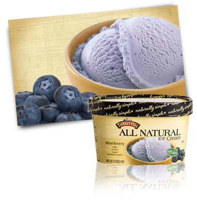 Turkey Hill Blueberry All Natural Ice Cream