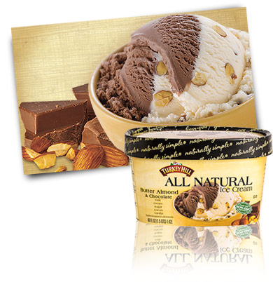 Turkey Hill Butter Almond & Chocolate All Natural Ice Cream