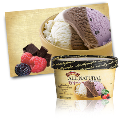 Turkey Hill Chocolate Raspberry Bliss Trio'politan™ All Natural Ice Cream