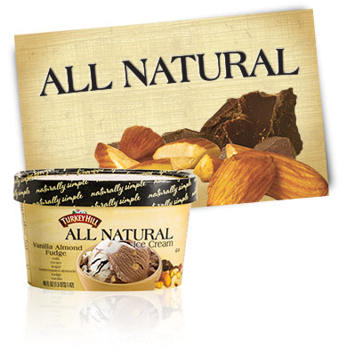 Turkey Hill Vanilla Almond Fudge All Natural Ice Cream