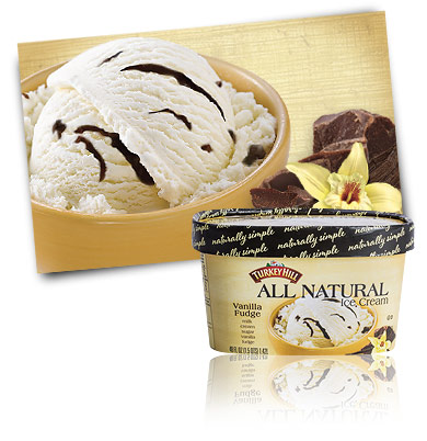 Turkey Hill Vanilla Fudge All Natural Ice Cream