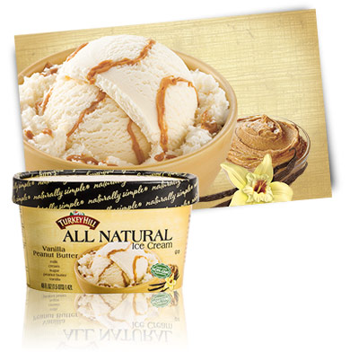 Turkey Hill Vanilla Peanut Butter All Natural Ice Cream