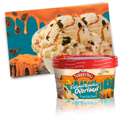 Turkey Hill Caramel Brownie Overload Frozen Dairy Desserts