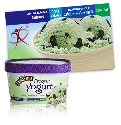 Turkey Hill Mint Cookies 'n Cream Frozen Yogurt