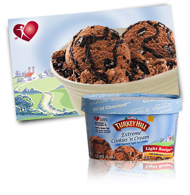 Turkey Hill Extreme Cookies 'n Cream Light Ice Cream
