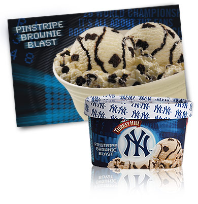 Turkey Hill Yankees™ Pinstripe Brownie Blast Premium Ice Cream