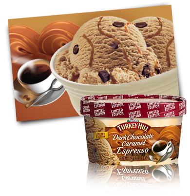 Turkey Hill Dark Chocolate Caramel Espresso Premium Ice Cream