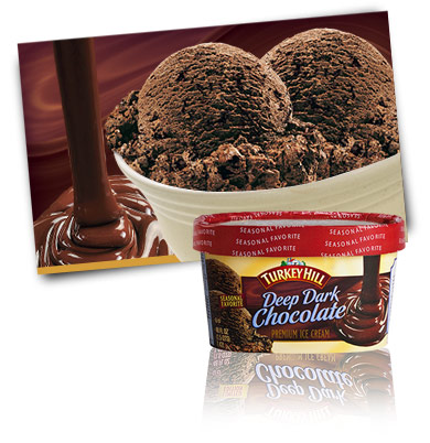 Turkey Hill Deep Dark Chocolate - Seasonal Favorite Premium Ice Cream