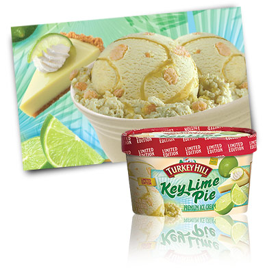 Turkey Hill Key Lime Pie - Seasonal Favorite Premium Ice Cream