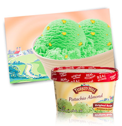 Turkey Hill Pistachio Almond Premium Ice Cream