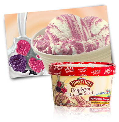 Turkey Hill Raspberry Cream Swirl Premium Ice Cream