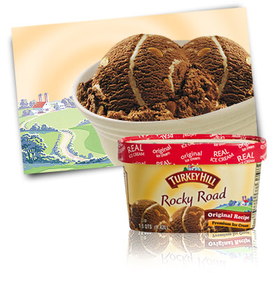 Turkey Hill Rocky Road Premium Ice Cream