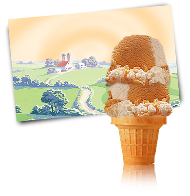 Turkey Hill Orange Cream Swirl Premium Ice Cream