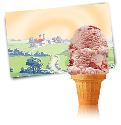 Turkey Hill Strawberries and Cream Premium Ice Cream