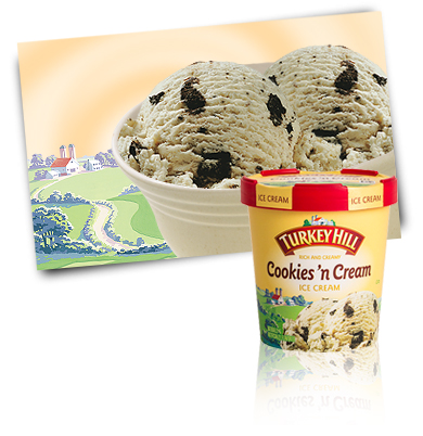 Turkey Hill Cookies 'n Cream Premium Ice Cream