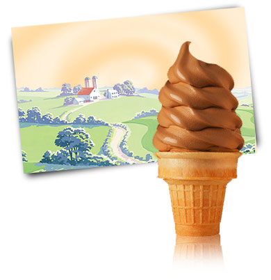 Turkey Hill Chocolate 5% Soft Serve Soft Serve Ice Cream