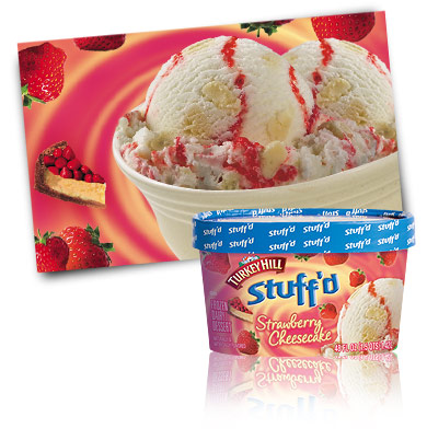 Turkey Hill Strawberry Cheesecake Stuff'd