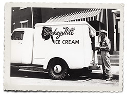 An early Turkey Hill delivery truck