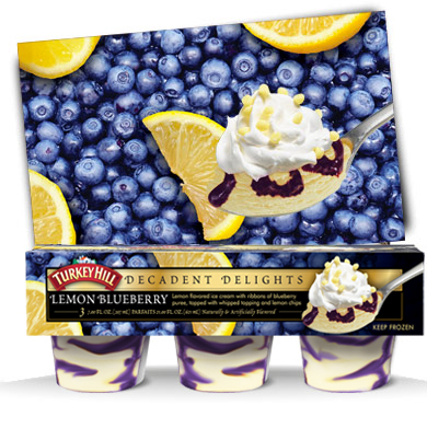 Turkey Hill Lemon Blueberry Decadent Delights Parfaits