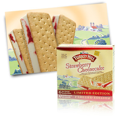 Turkey Hill Strawberry Cheesecake Ice Cream Sandwiches